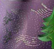 Carte de voeux pour la saison des vacances d'hiver Image libre de droits