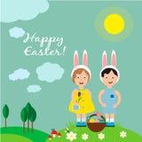 Carte de voeux pour le jour de Pâques illustration stock