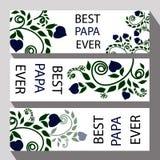 Carte de voeux pour le jour de père ou les félicitations du père pour a Photographie stock