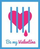 Carte de voeux pour le jour de Valentine Photos libres de droits