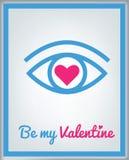Carte de voeux pour le jour de Valentine images stock