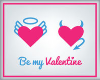 Carte de voeux pour le jour de Valentine Images libres de droits