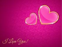 Carte de voeux pour le jour de valentines Illustration Libre de Droits