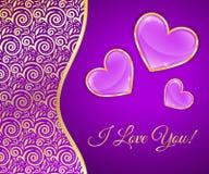 Carte de voeux pour le jour de valentines Image stock