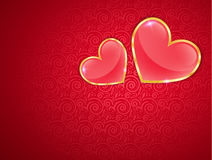 Carte de voeux pour le jour de valentines Photos libres de droits