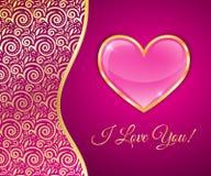 Carte de voeux pour le jour de valentines Images libres de droits