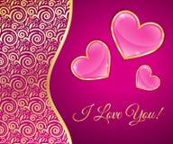 Carte de voeux pour le jour de valentines Photo stock