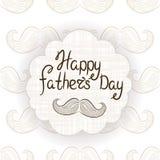 Carte de voeux pour le jour du ` s de père Carte postale de vecteur avec la moustache typographie Image libre de droits