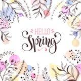 Carte de voeux de printemps Photographie stock libre de droits