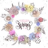 Carte de voeux de printemps Image stock