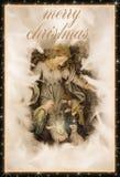 Carte de voeux de réveillon de Noël avec le texte Photo libre de droits