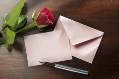 Carte de voeux romantique Photographie stock