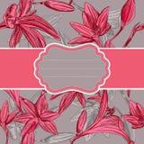 Carte de voeux romantique avec des fleurs avec l'espace pour votre texte. Le VE Images libres de droits