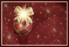 Carte de voeux rouge de fond de Noël d'ornement images libres de droits