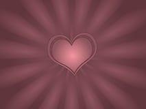 Carte de voeux simple de coeur Images libres de droits