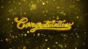 Carte de voeux de souhaits de félicitations, invitation, feu d'artifice de célébration illustration stock