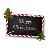 Carte de voeux de style de tableau pour Noël avec le cadre de sucrerie Photographie stock