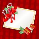 Carte de voeux traditionnelle de Noël Illustration Stock