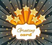 Carte de voeux tramée avec des étoiles Image stock