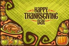 Carte de voeux de vecteur pour le jour de thanksgiving illustration stock