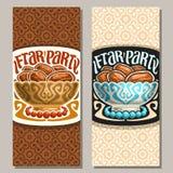 Carte de voeux de vecteur pour Ramadan Iftar Party illustration stock