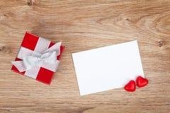 Carte de voeux vierge de valentines Photo libre de droits
