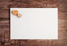 Carte de voeux vierge pour la valentine de St Images libres de droits