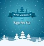 Carte de voeux de vintage de Joyeux Noël illustration libre de droits