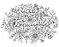 Carte de voeux vous êtes ainsi beautiful Photo libre de droits