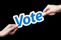 Carte de vote Photographie stock