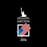 Carte de vote sur un fond noir Images libres de droits