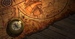 Carte de Worl Image libre de droits