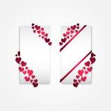 Carte dei biglietti di S. Valentino Fotografie Stock