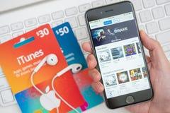 Carte del deposito e di regalo di ITunes Fotografie Stock