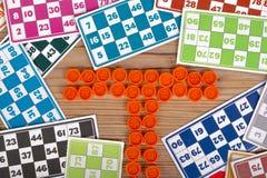 Carte del gioco di bingo o del lotto Immagini Stock Libere da Diritti