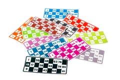 Carte del gioco di bingo o del lotto Immagine Stock Libera da Diritti
