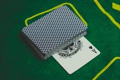 carte del gioco usate per giocare immagine stock libera da diritti