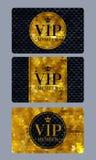Carte del membro di VIP con fondo astratto Fotografia Stock
