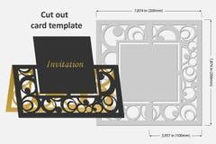 Carte del modello da tagliare topper Uso per le congratulazioni, inviti, presentazioni, nozze Fotografie Stock