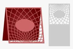 Carte del modello da tagliare topper Uso per le congratulazioni, inviti, presentazioni, nozze Immagine Stock