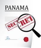 Carte del Panama Fotografia Stock