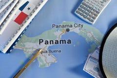 Carte del Panama Immagini Stock