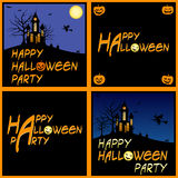 Carte del partito di Halloween illustrazione di stock