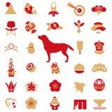 Carte del ` s del nuovo anno, carte fortunate illustrazione vettoriale