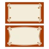 Carte dell'invito di art deco di vettore Fotografia Stock