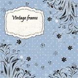 Carte dell'invito in un retro stile con i fiori Fotografia Stock