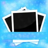 Carte della foto di Natale Fotografie Stock
