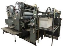 Carte della macchina e della stampa di perforazione sulla vecchia macchina Fotografia Stock Libera da Diritti