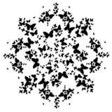 Carte della mandala con le farfalle Fotografie Stock Libere da Diritti