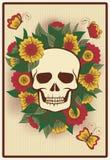 Carte della mazza di Halloween con il cranio Fotografie Stock Libere da Diritti